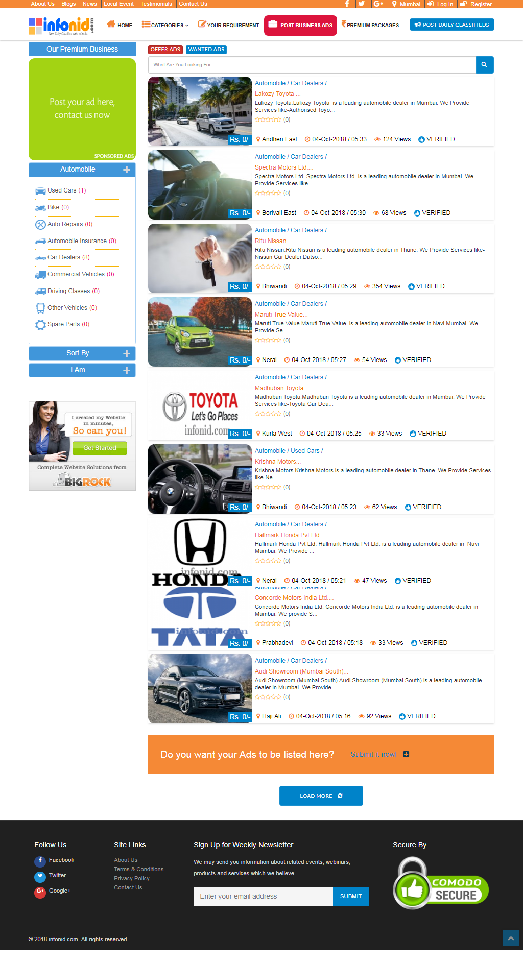 New Daily Classifieds Website In India.